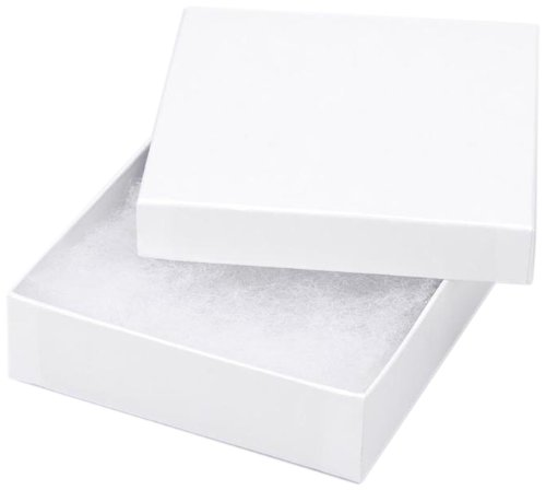 Jewelry Boxes - White - 3.5 x 3.5 x 7/8 inches - 6 pieces