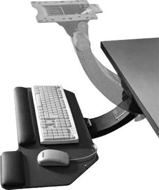 Lock Keyboard Tray System - Super Sit Stand Keyboard Tray System