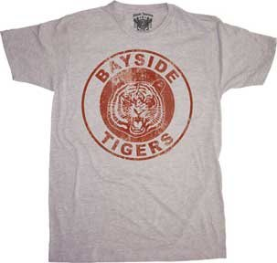 Saved by the Bell - Bayside Tigers (Slim Fit) T-Shirt Size - Bayside Bell Tigers