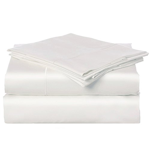 California Cotton Club, 600 Thread Count Best Bed Sheets Set, 100% Cotton, Luxury Soft Sateen Weave Fits Mattress Upto 17 inch Deep Pockets, 4 Piece Sheets and Pillowcases, Queen Sheets (600 Supima Set)