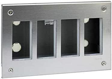 Simon 51000114-036 - Caja Metálica De Empotrar 4 Módulos: Amazon.es: Bricolaje y herramientas