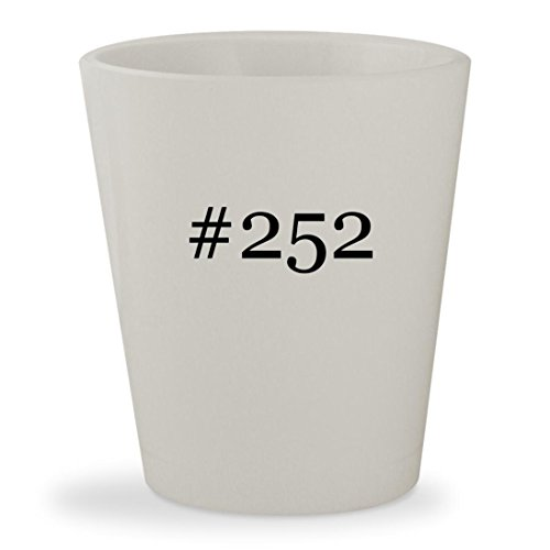 #252 - White Hashtag Ceramic 1.5oz Shot - Miller Mac Glasses