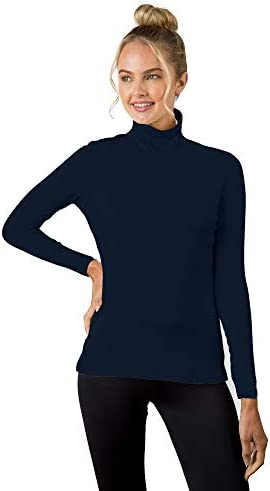 A\u2019nue Miami Women\u2019s Classic Turtleneck Long Sleeve Basic Shirt Medium Navy / A\u2019nue Miami Women\u2019s Classic Turtleneck Long Sleeve Basic Shirt Medium Navy