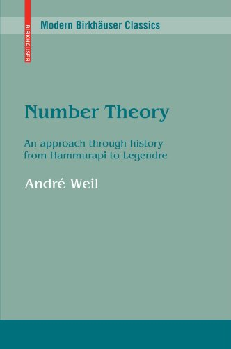 Number Theory: An Approach Through History from Hammurapi to Legendre (Modern Birkhäuser Classics Series)