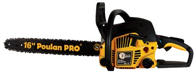 Poulan Pro PP3816A 38cc Assembled Chainsaw with Case, 16-Inch