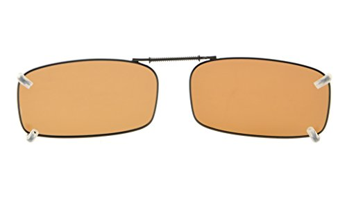 clip borde 54x30MM de sol metal Eyekepper gafas Marrón lente Marco en polarizado de wqFPwYtpx1