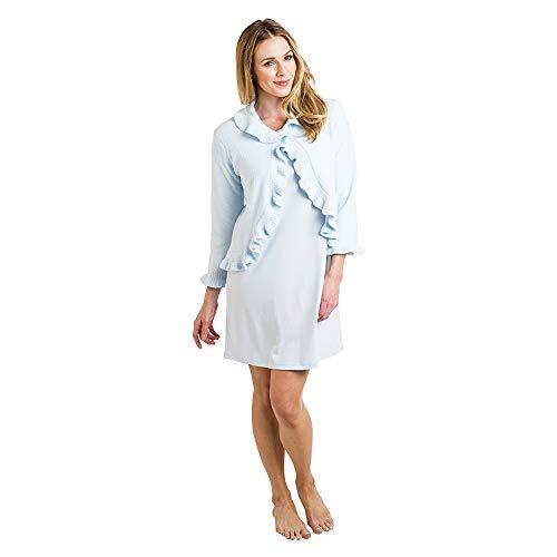 Softies Women's Ruffle Chenille Bed Jacket (X-Large, Blue)
