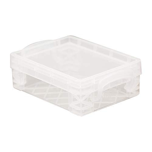 Super Stacker Crayon Box, 4.75 x 3.5 x 1.5 Inches, Clear, 1 Box (40311)