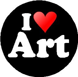 Pinback Button Love (I Love Art 1.25
