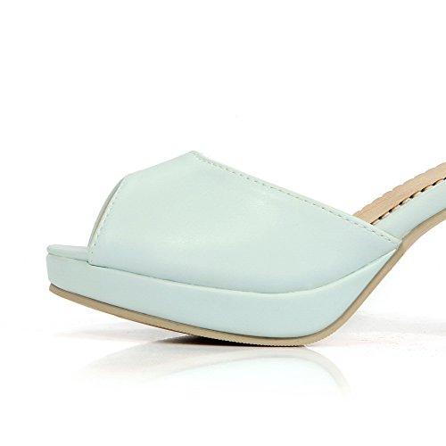 Spenne Kvinners Blå Voguezone009 Toe Høye Sandaler Hæler Materiale Peep Solid Mykt UY6wYq