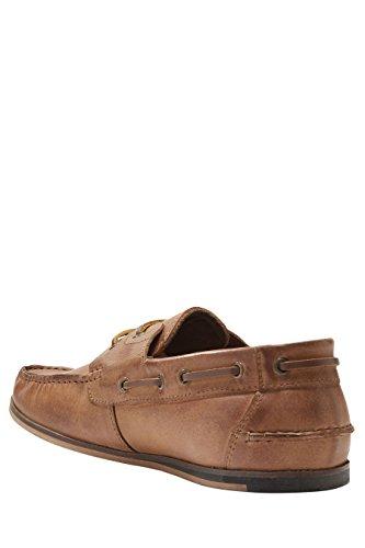 next Hombre Zapatos Zapatillas Náuticos De Piel Cómodos Suave Casual Bronceado