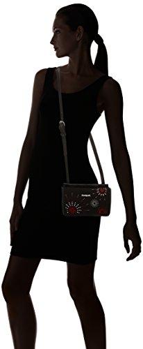 Desigual BOLS_DALLAS Blackstar, Bolso Bandolera para Mujer, Negro (2000), 3x13x21 cm (B x H x T) Negro (2000)