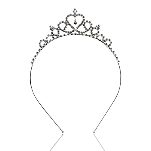 SATYAM KRAFT Hair Accessories Tiara Headband for Women and Girl Crown Hairband Tiara