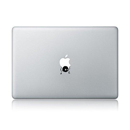 Logo Away Decal (Soot Sprite Carrying Apple Spirited Away Hayao Miyazaki Apple Macbook Laptop Vinyl Sticker Decal)