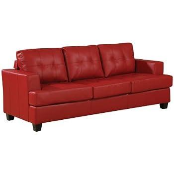 affordable furniture sensations red brick sofa. acme 15100b diamond bonded leather sofa with wood leg red affordable furniture sensations brick