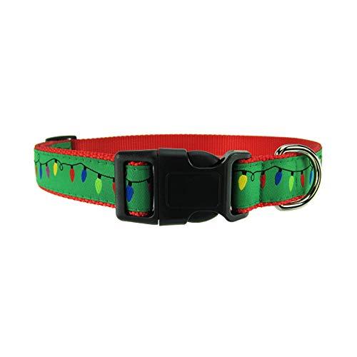 Pet Ribbon Collar Dog Christmas (DOG & COMPANY Christmas Lights Pattern - 1