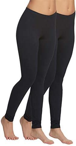 Felina Velvety Super Soft Lightweight Leggings for Women – Yoga Pants (2-Pack)