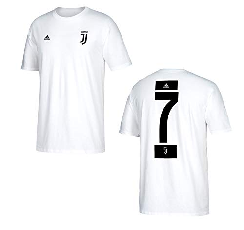 34450726f adidas Cristiano Ronaldo Juventus F.C. Men s White Name and Number T-Shirt  X-Large