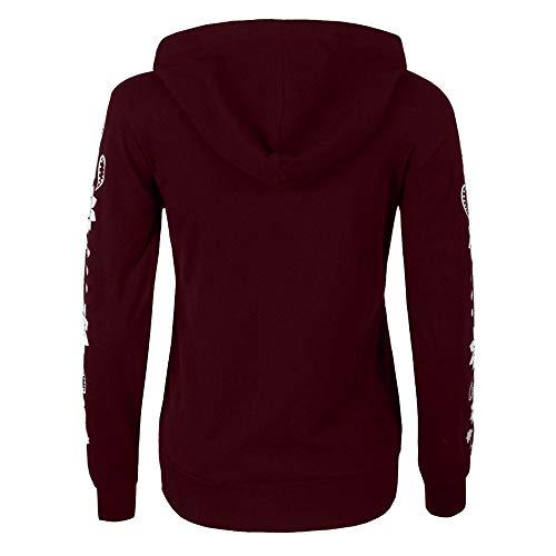 Grande Sweat À Sweats shirts Hooded Coton Décontractée Amuster Capuche Hiver Robe Sweat Sport Tops Manteau Longues Fille Manches Femme Pull Taille Sweatshirt Rouge Swag Hoodie Veste w7dq5Yd