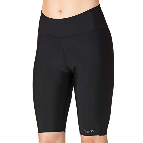 Terry Women's New Chill 9 inch Padded, Compression Bike Short - No Leg Bands, Shorts Won't Ride Up - No Bulge, No Pinch! - Black - Small