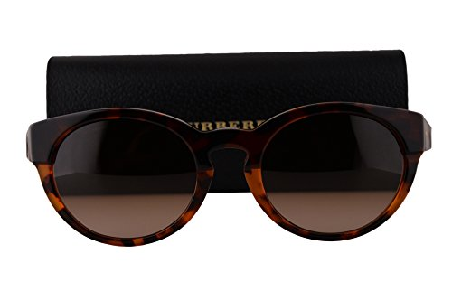 Burberry BE4205 Sunglasses Top Dark Havana Light Havana w/Brown Gradient Lens 355913 BE - Cheap Sunglasses Burberry