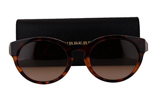 Burberry BE4205 Sunglasses Top Dark Havana Light Havana w/Brown Gradient Lens 355913 BE 4205 by BURBERRY