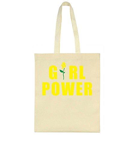 Bag Girl Girl Power Power Design Flower Yellow Yellow Flower Tote qSa4zq
