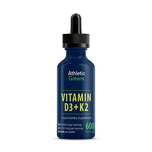 Balanced Vitamin D3 and K2 Liquid Formula From Athletic Greens 24.5 ml
