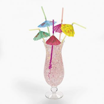 (Pretty Parasol Straws - Party Tableware & Party Straws & Picks 12 pc)