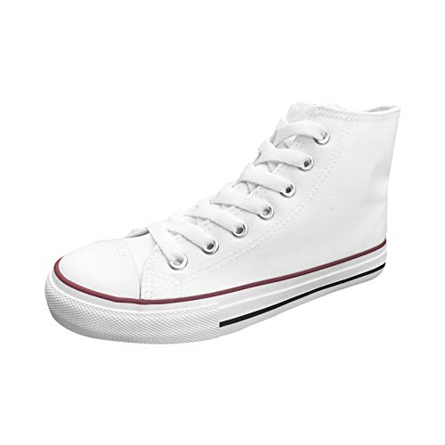 Ish Official Women White Blank High Top