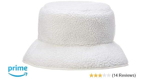 35761ac927efb Amazon.com  Under Zero Women s Beige Faux Lamb Wool Polyester Bucket Hat   Clothing