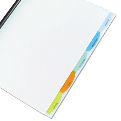 Polypropylene View-Tab Report Cover, Binding Bar, Letter, Holds 40 Pages, Clear, Sold as 1 Each, 15PACK , Total 15 Each