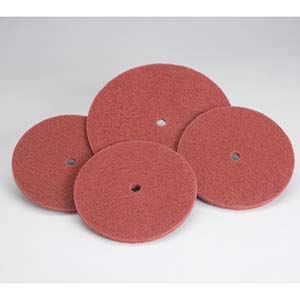 Aluminum Oxide 1//2 in 2700 RPM Non-Woven Finishing Disc 8 in Disc Dia 27 Units
