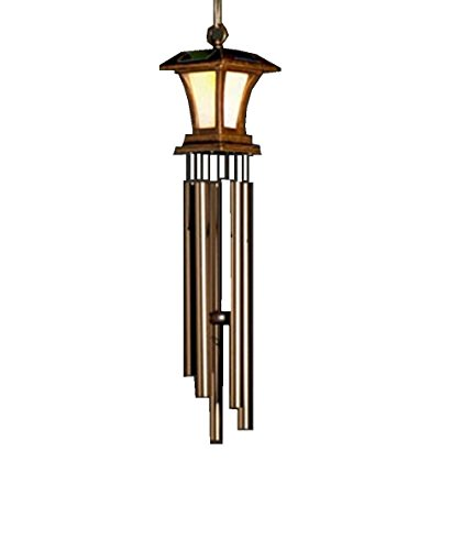 Encore Collection 1 Light - This New Large Wind Chime Solar Powered Light Is a Beautiful LED Lighted Chimes for Your Garden Yard Patio and Landscaping Outdoor Décor