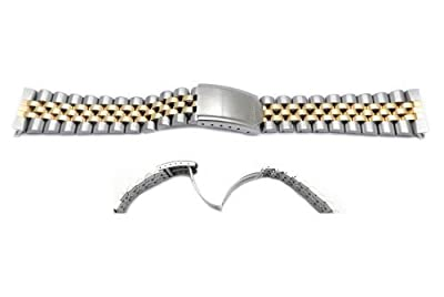 Seiko Dual Tone Jubilee Style 20mm Watch Band from Seiko