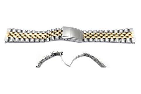 Seiko Dual Tone Jubilee Style 20mm Watch Band - Dual Tone