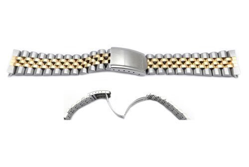Seiko Dual Tone Jubilee Style 20mm Watch Band by Seiko