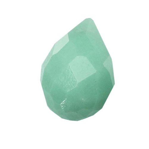 Aqua Green Amazonite Gemstone Faceted Teardrop Briolette Beads 12x8mm (4) (Briolette Gemstone Teardrop)