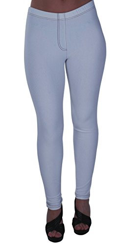 Eyecatch - Starla Aux Femmes tendue Jeggings Dames Jeans Grand Taille Pantalon Blanc