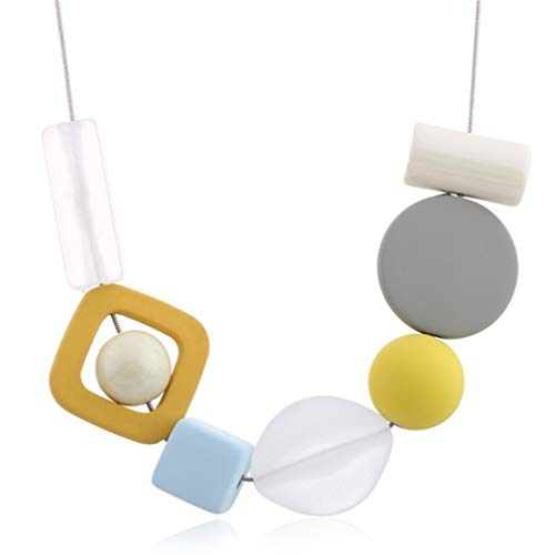 DARLING HER Multicolor Resin Statement Necklace Women's Colorful Beads Necklaces & Pendants for Women Imitation Pearls Jewelry Yellow