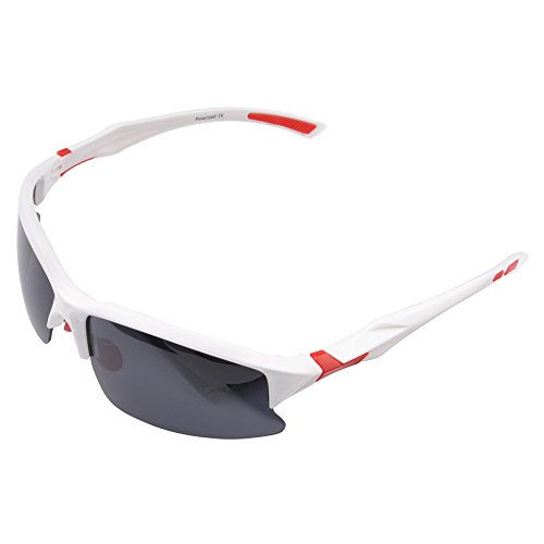 Br'Guras Safety Sunglasses for Men with 400 UV Protection Polarized Lens, Men's Sunglasses with Unbreakable Frame, Sports Sunglasses for Driving Baseball Running Cycling Fishing Golf, - Trekking Sunglasses