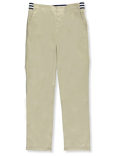 French Toast Girls Plus Size' Stretch Contrast Elastic Waist Pull-on Pant, Khaki, ()