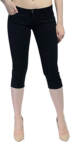 Hey Collection Juniors Brushed Stretch Twill Skinny Capri Jeans