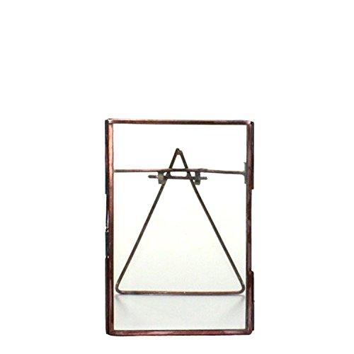 4 x 6 Tabletop Glass Copper Frame |Minimalist Metal Easel