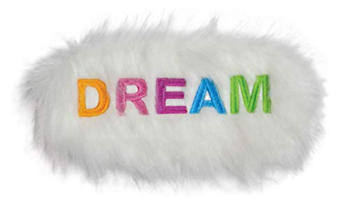 iscream Fun and Colorful Satin-Lined Embroidered Fur Rainbow Dream Sleep Mask for Girls -