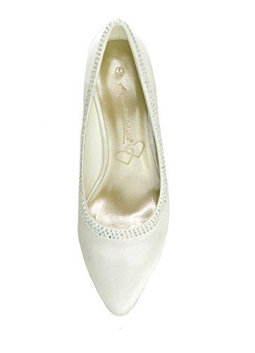 En Dames De Avec Chaussures Des Marie Ivoire Satin ff1Xq4