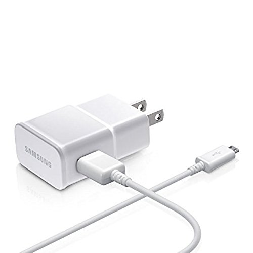 Samsung Charge Adapter with 5 Ft USB Sync Charging Cable - Non-Retail Packaging - White by Samsung