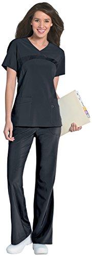 Urbane Women's Performance Renew Four Pocket Scrub Top, Graphite, 3X-Large by Landau