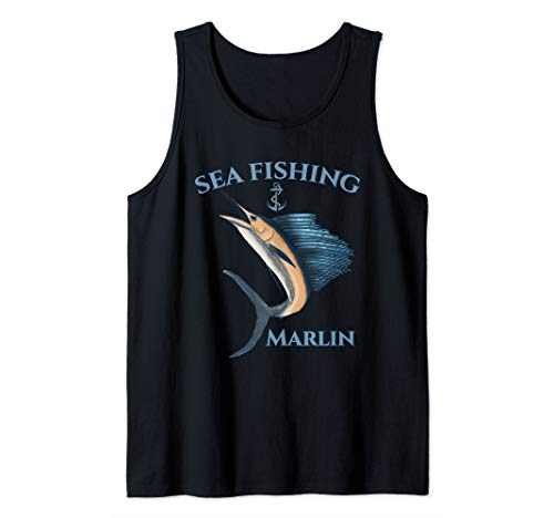 Sea Fishing Marlin Swordfish Nautical Tank Top