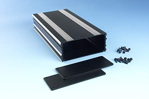 B3-220BK: Black Anodized, Extruded Aluminum Electronic Enclosure Project Box Electronic DIY Case, size 8.66